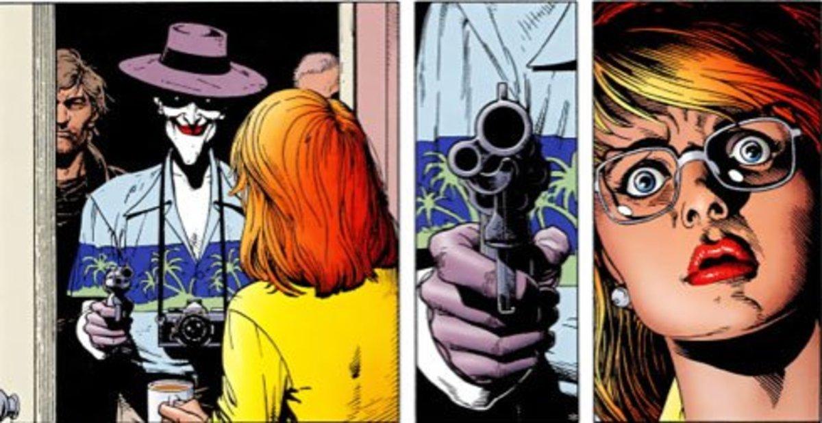 Joker shoots Batgirl