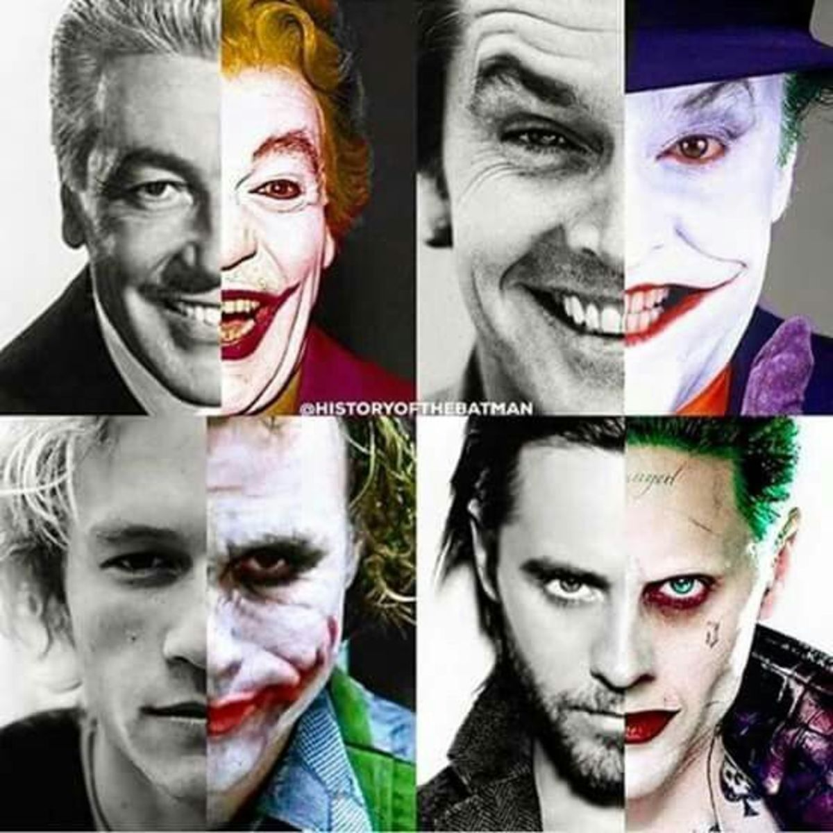 Had to include this awesome picture of the Jokers throughout film history.