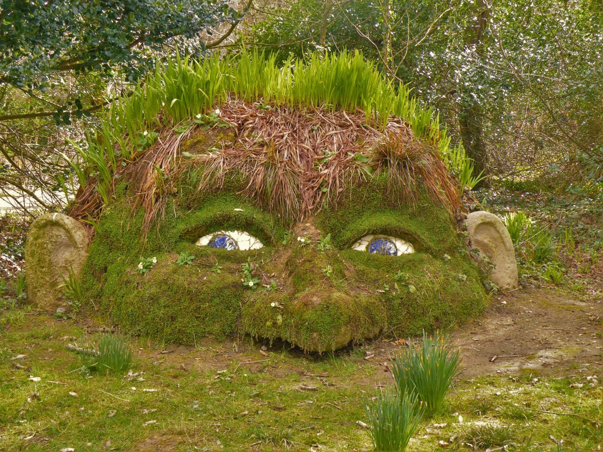Your imagination is full of surprises. I spy a giant at The Lost Gardens of Heligan, Cornwall