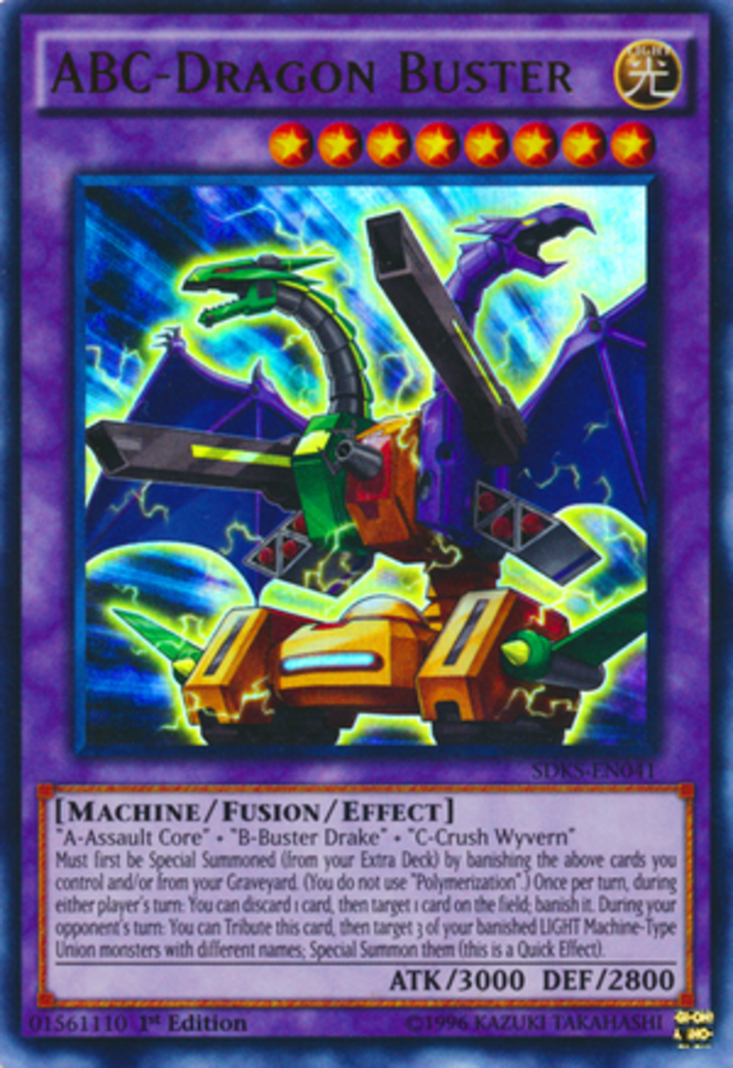 Okay... Is this thing a Dragon Buster because it specializes in destroying dragons, or is it a monster buster resembling a dragon?  If it's the former, we need a fusion with Buster Blader riding it.