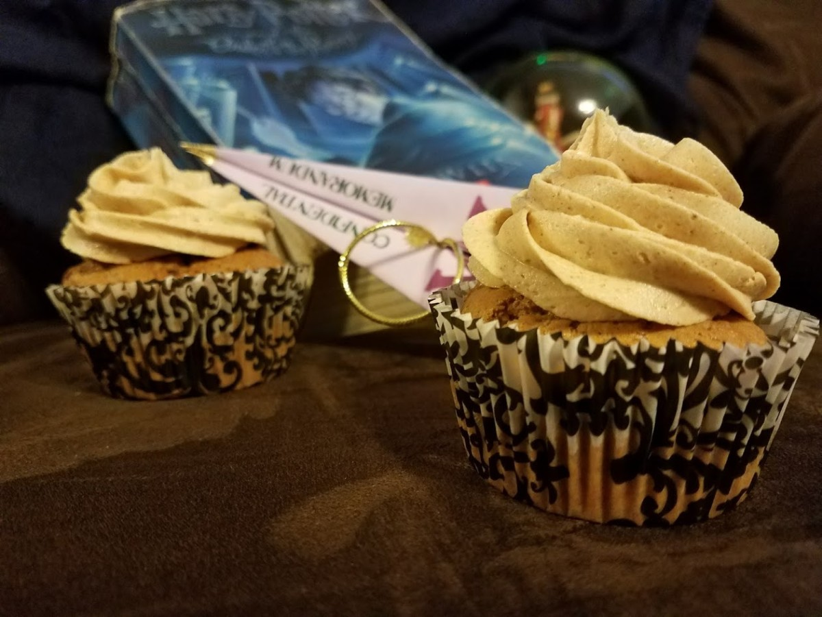 Gingersnap cupcakes with firewhiskey frosting