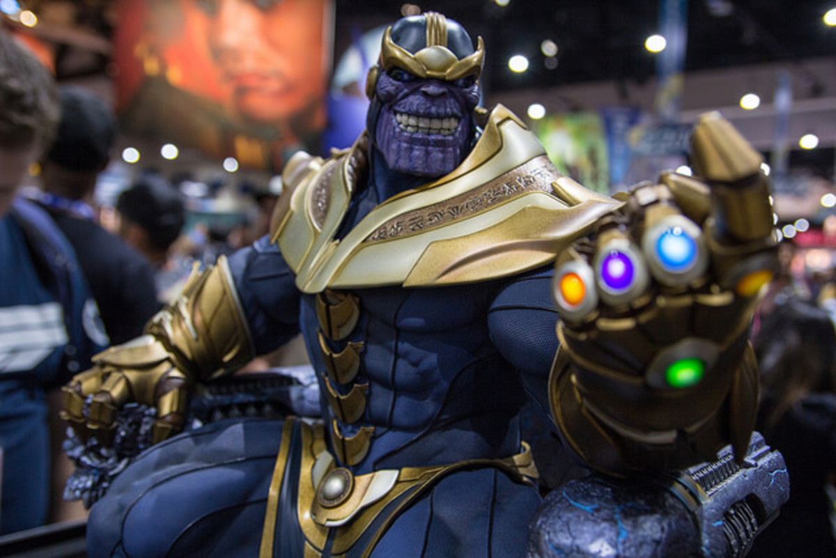 A Thanos statue from Sideshow Collectibles