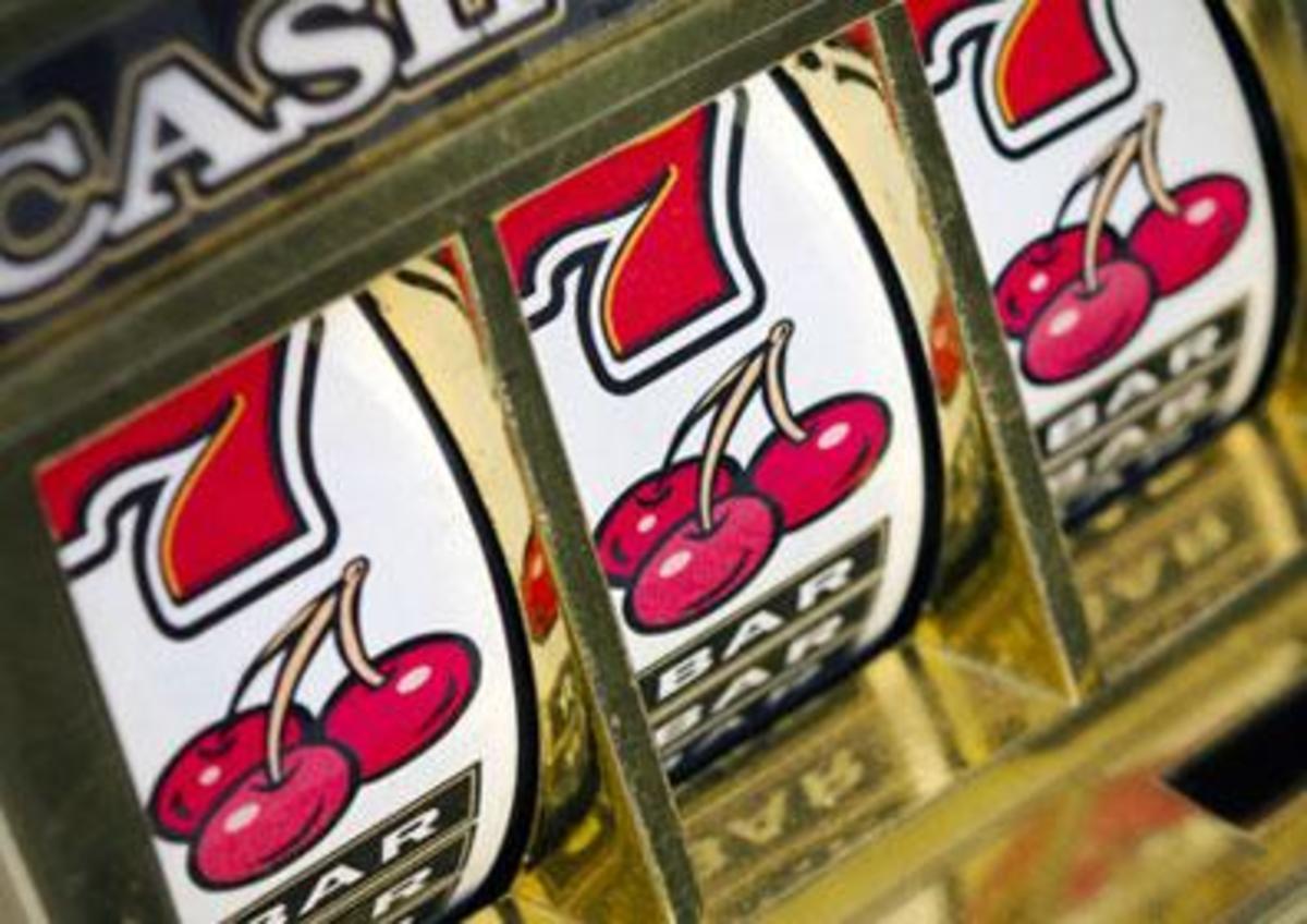 A slot machine.