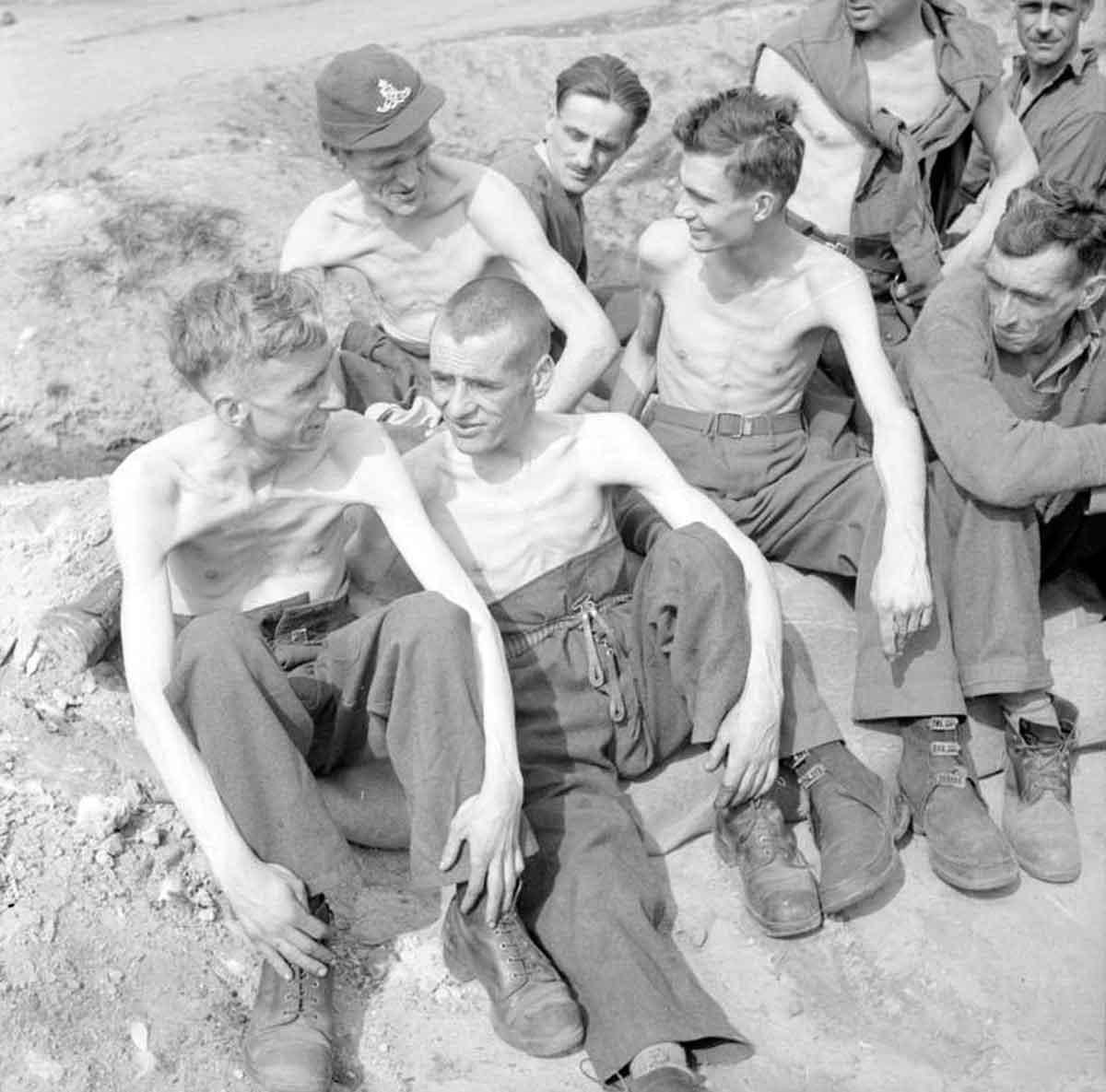 Emaciated Prisoners of War