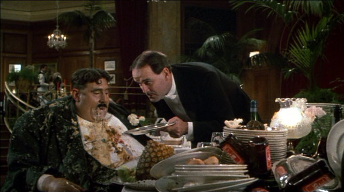 The Mr. Creosote skit with the wafer thin mint.