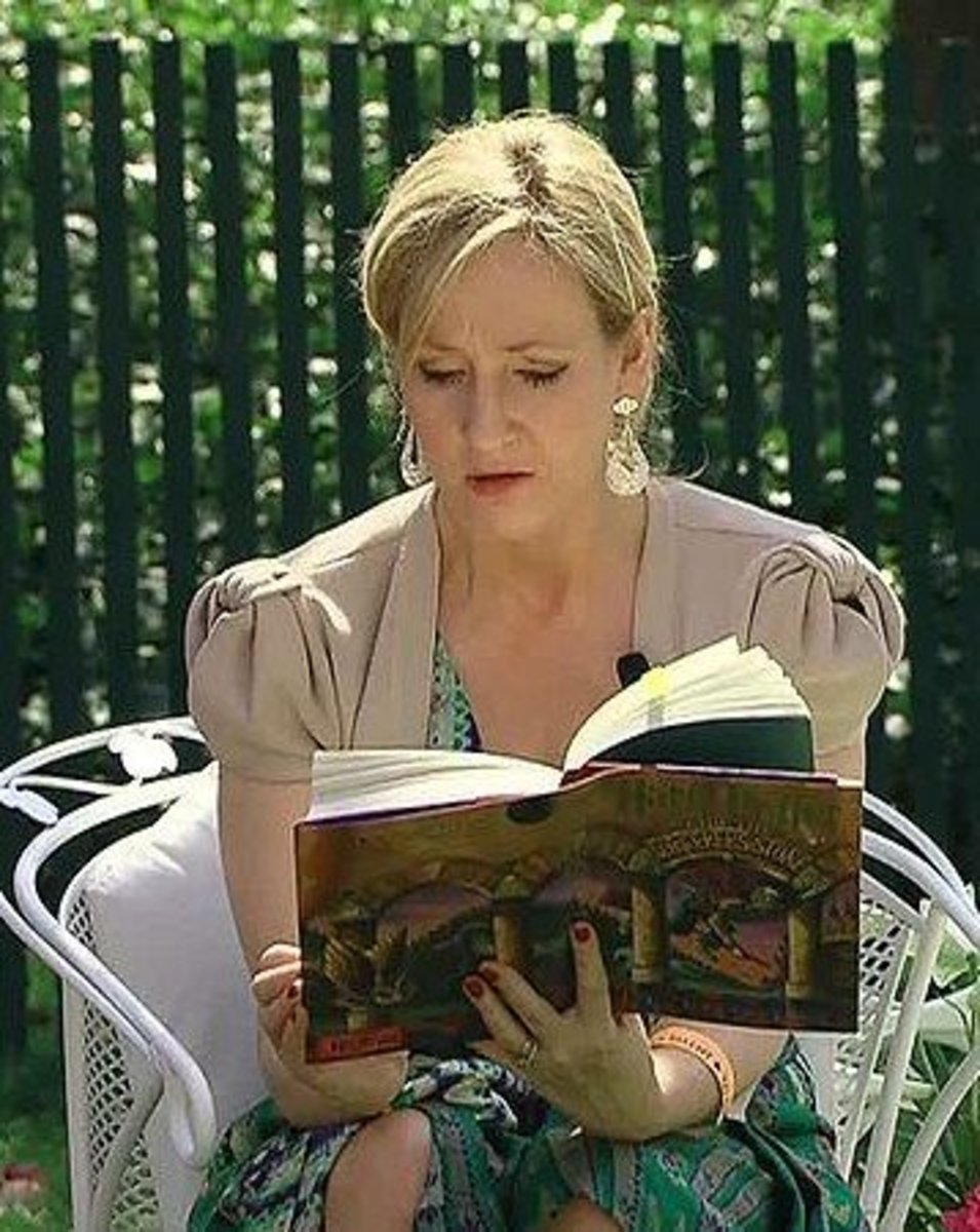 J.K. Rowling reading at the White House in 2010.