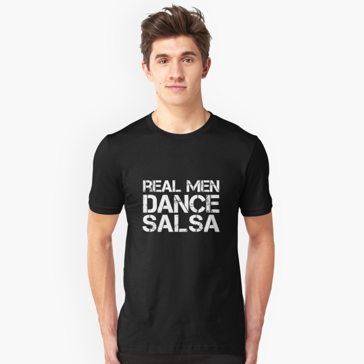 T-shirts with a fun dance quote can be good conversation starters, especially if you are going to a more casual salsa club.