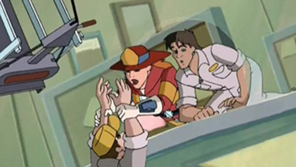 Wendy saves a civilian from twin towers in the banned episode.