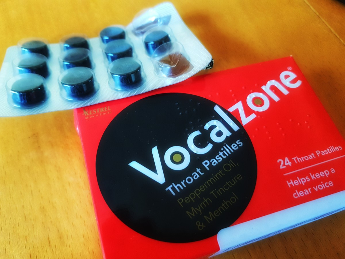 Vocalzone contains natural ingredients known to aid the vocal cords and clear nasal congestion.