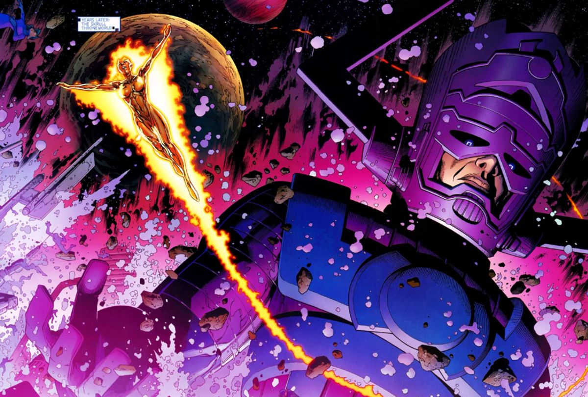 Galactus, the World Eater, with his herald, Nova