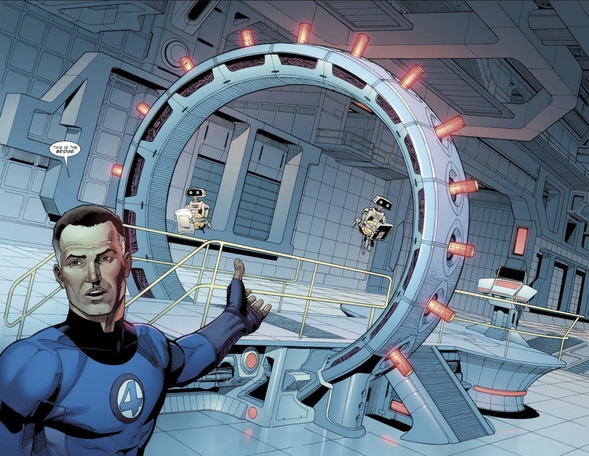 Reed Richards with H.E.R.B.I.Es.