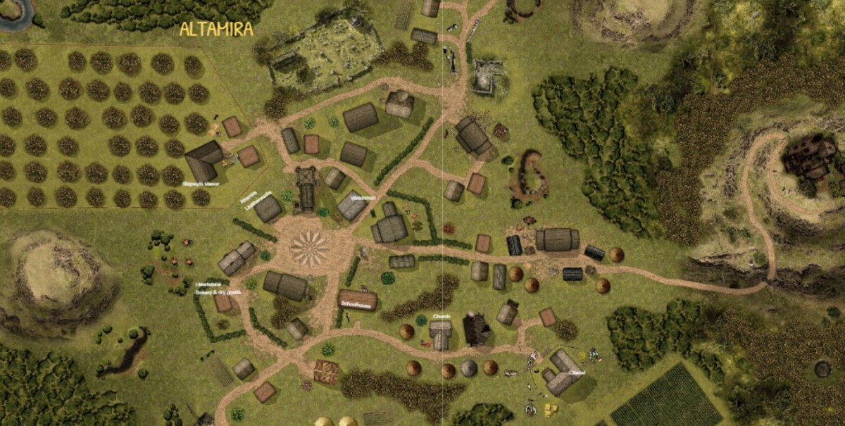 The first run through I played was online, and this was the map I used (repurposed) for the town of Altamira