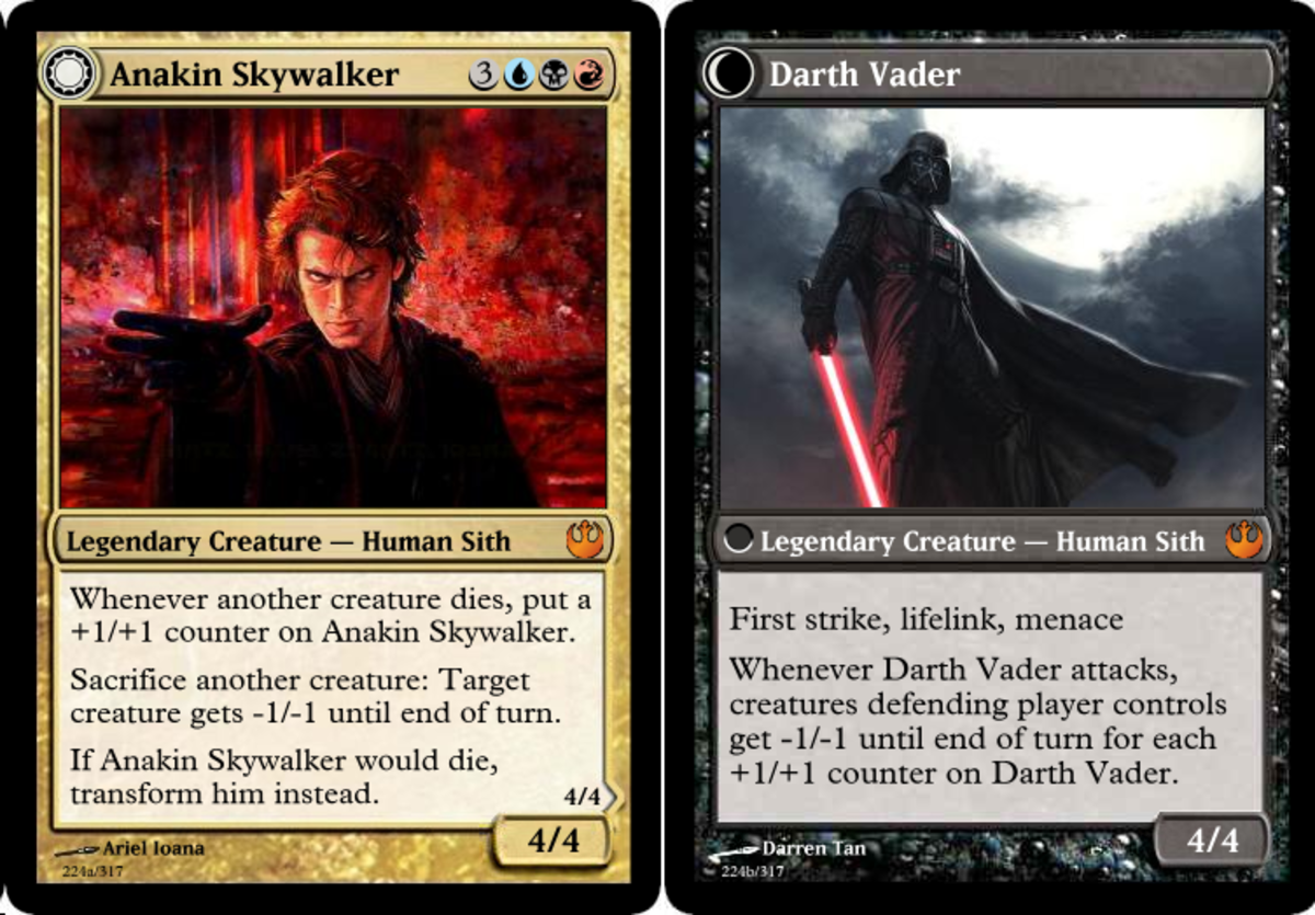 Fan-made Anakin Skywalker/Darth Vader card