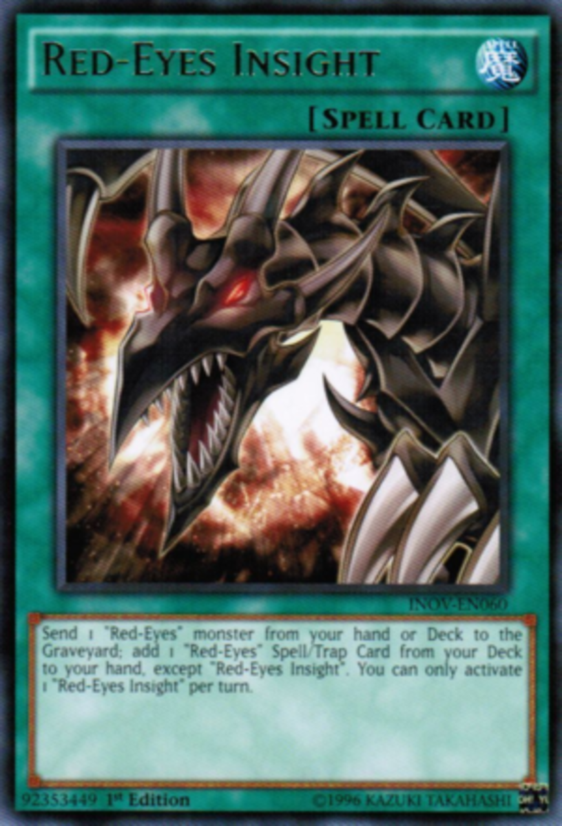 Feel the burn.  Look into those blazing, red eyes and feel it.  Man, the artwork for this card looks awesome.