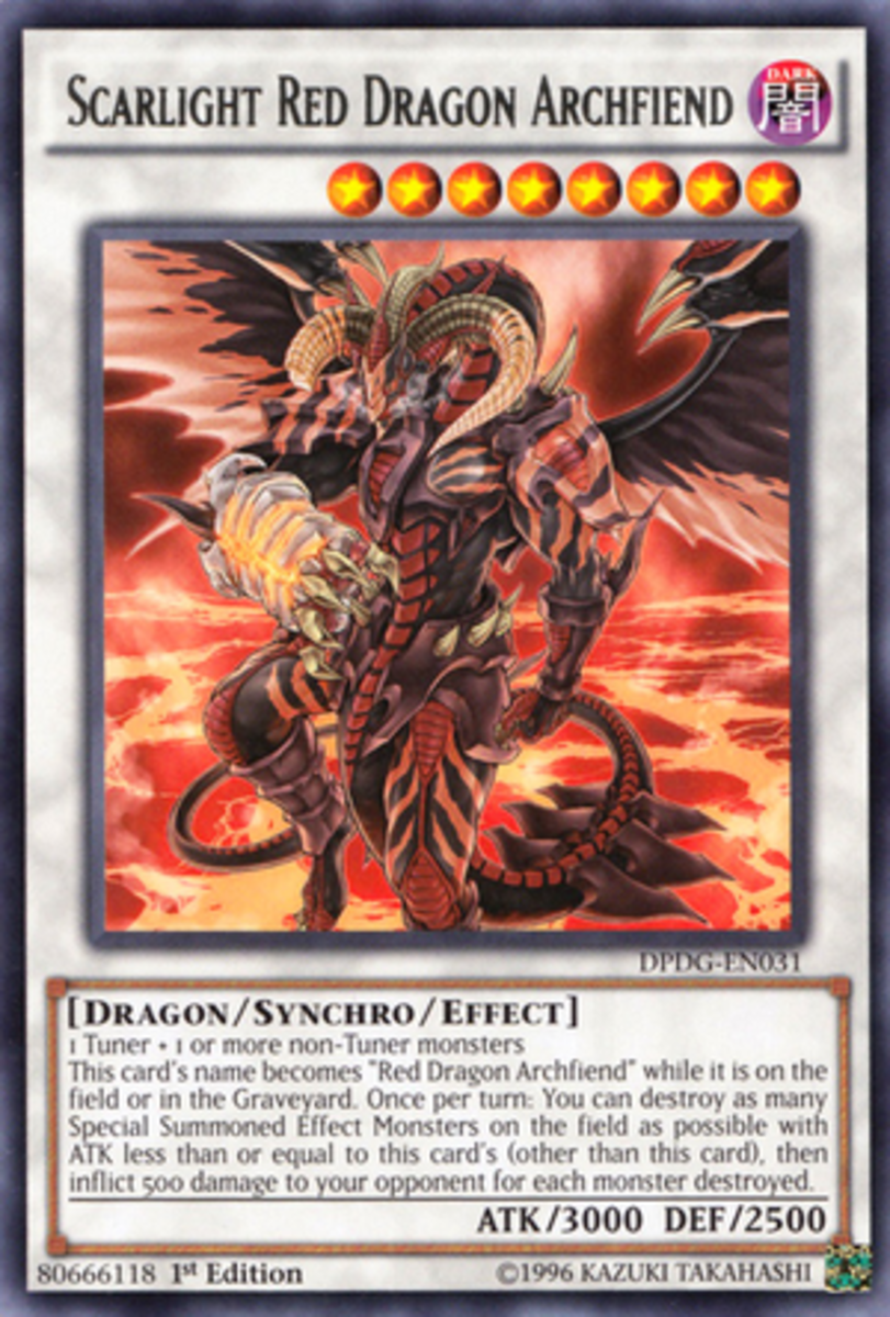 So… The Red Dragon Archfiend now has a bionic arm?  I wouldn't laugh if I were you, or at least not in his face.
