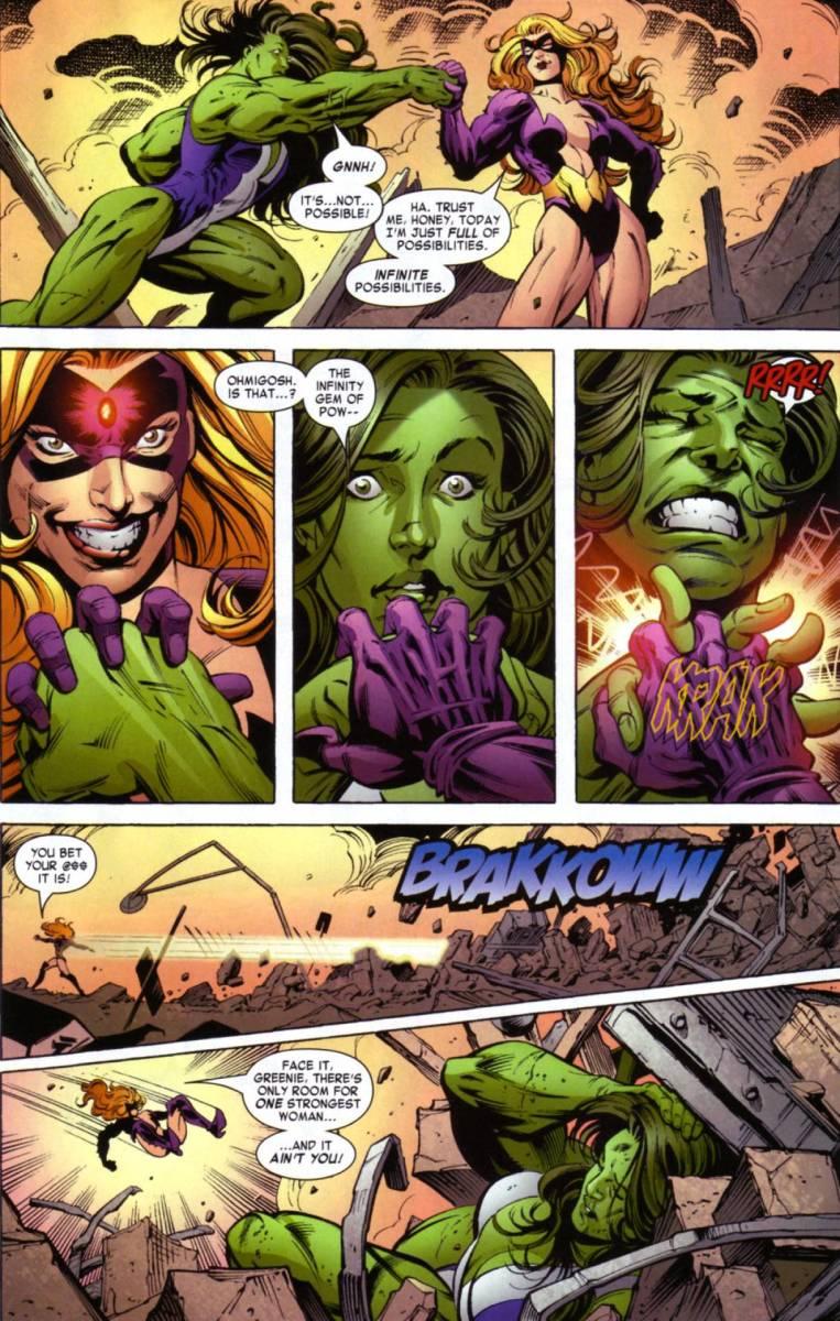 She Hulk was clobbered