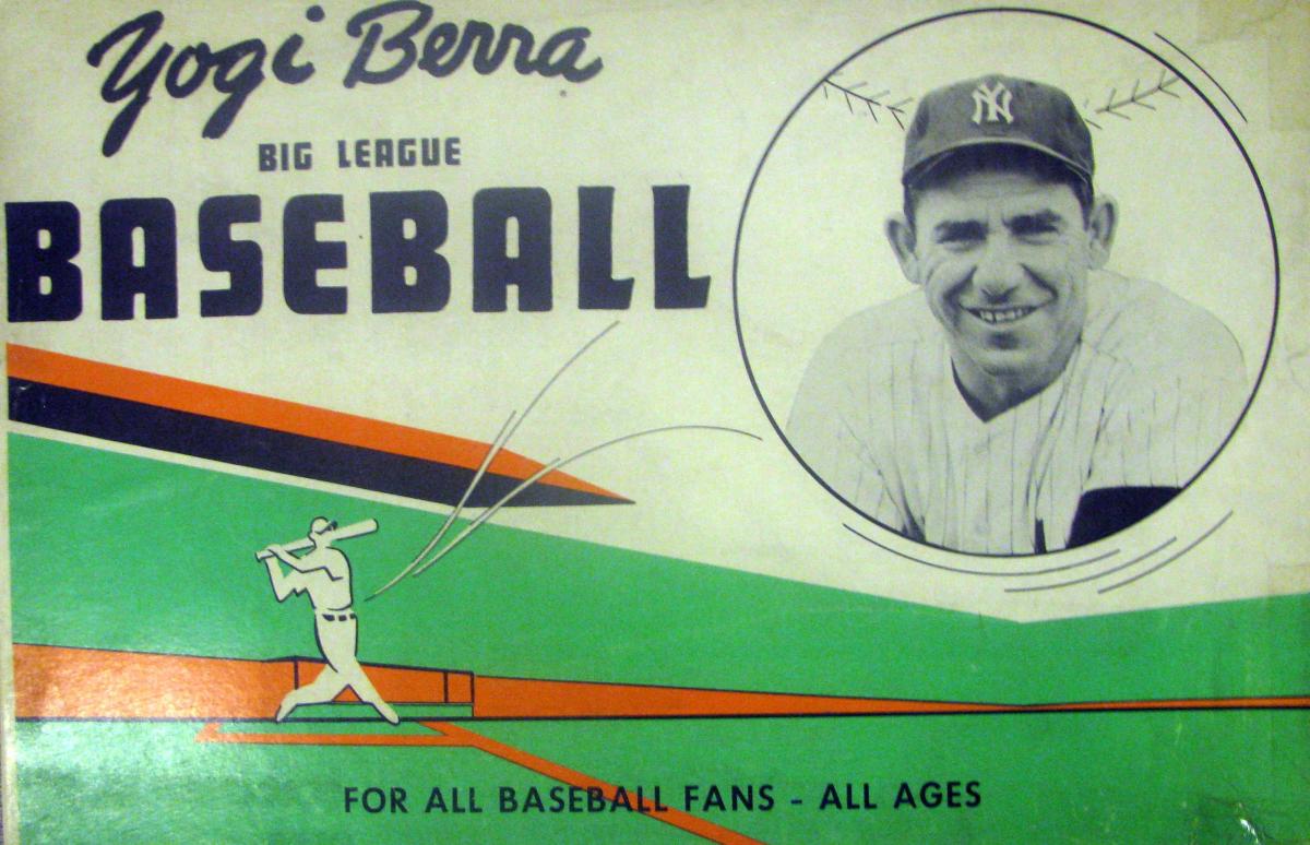 The cover for the Yogi Berra Big League Baseball game.