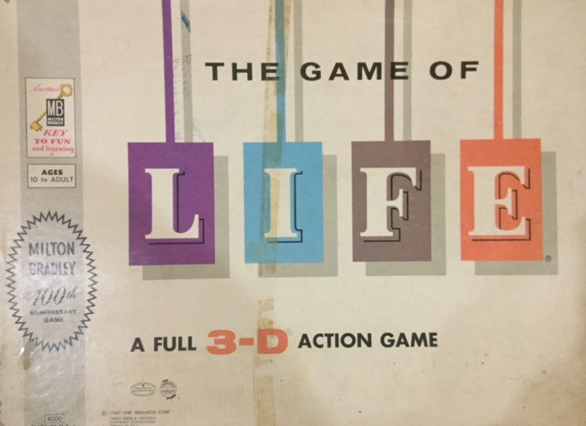 A 1960s Game of Life box.