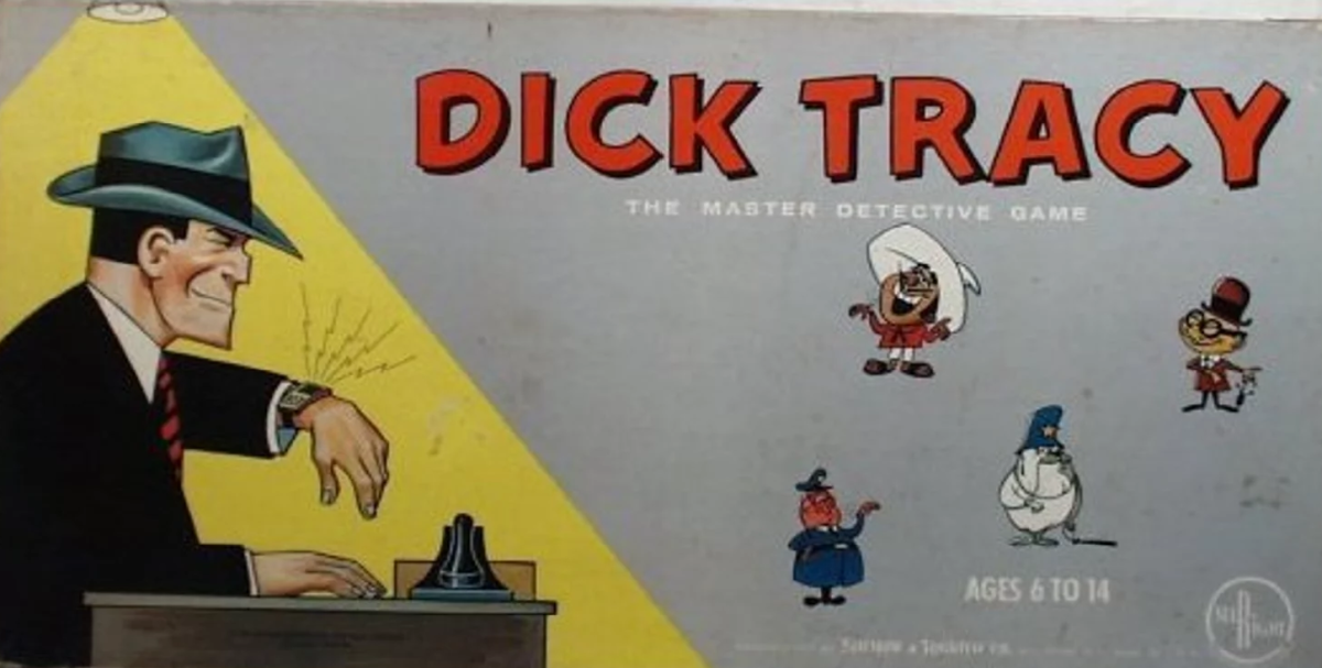 The box cover for Dick Tracy, the Master Detective.