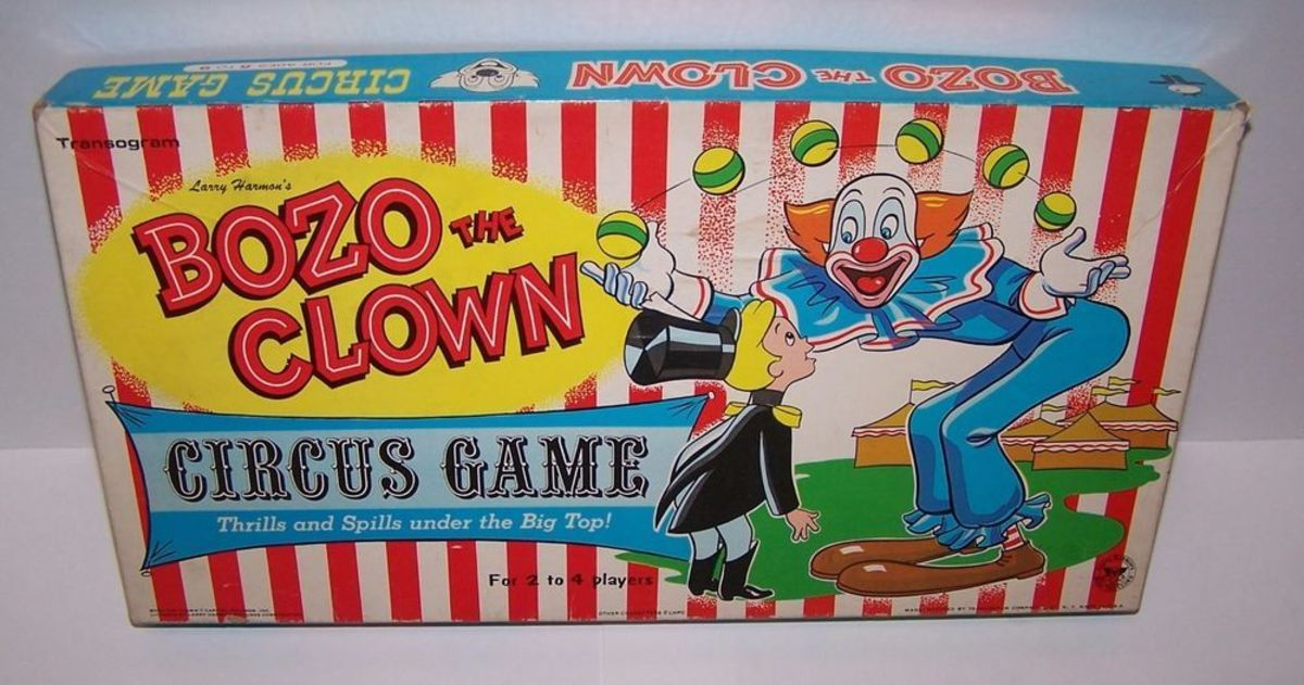 The box for the Bozo the Clown Circus Game.