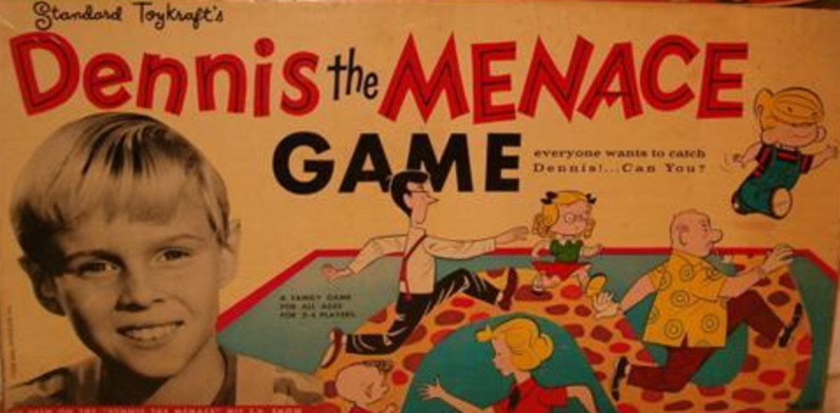 This is the box for the Dennis the Menace Game.