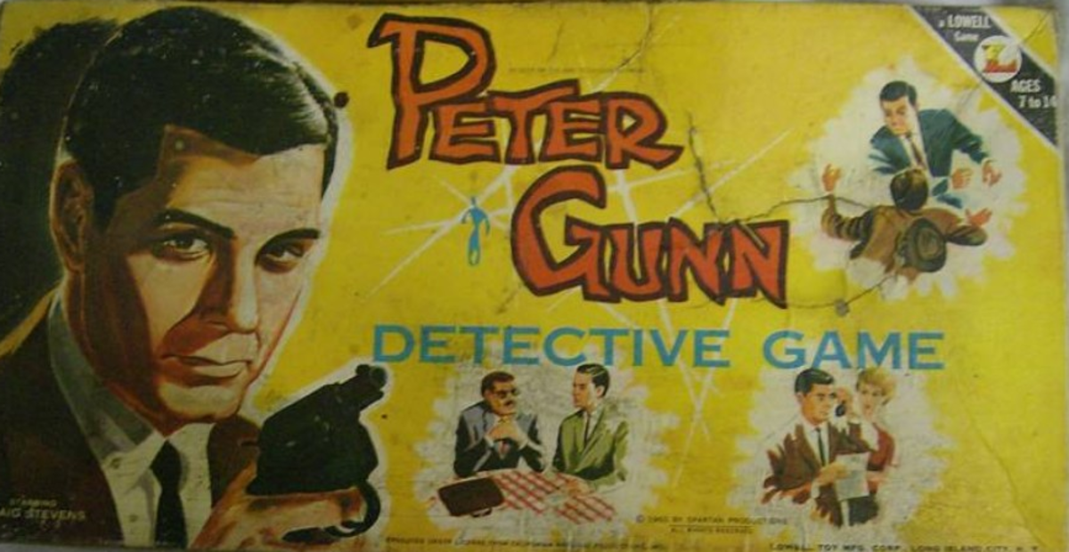 Here's the box for the Peter Gunn Detective Game.