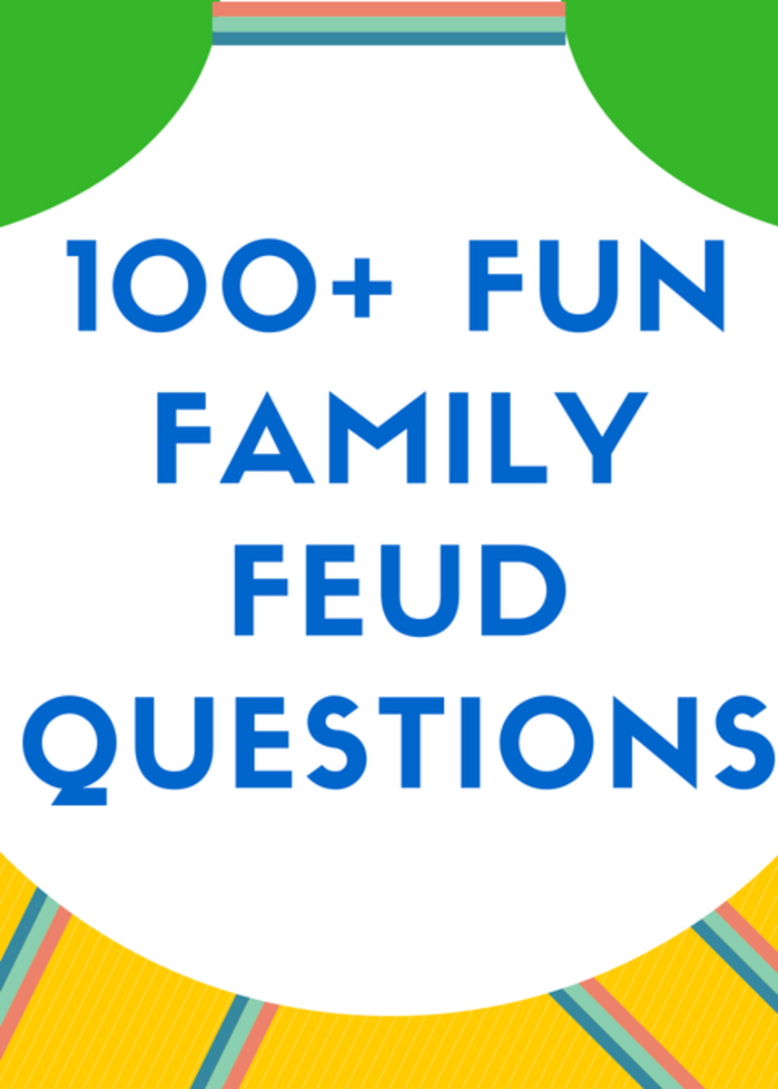 Geeky image pertaining to family feud questions and answers printable