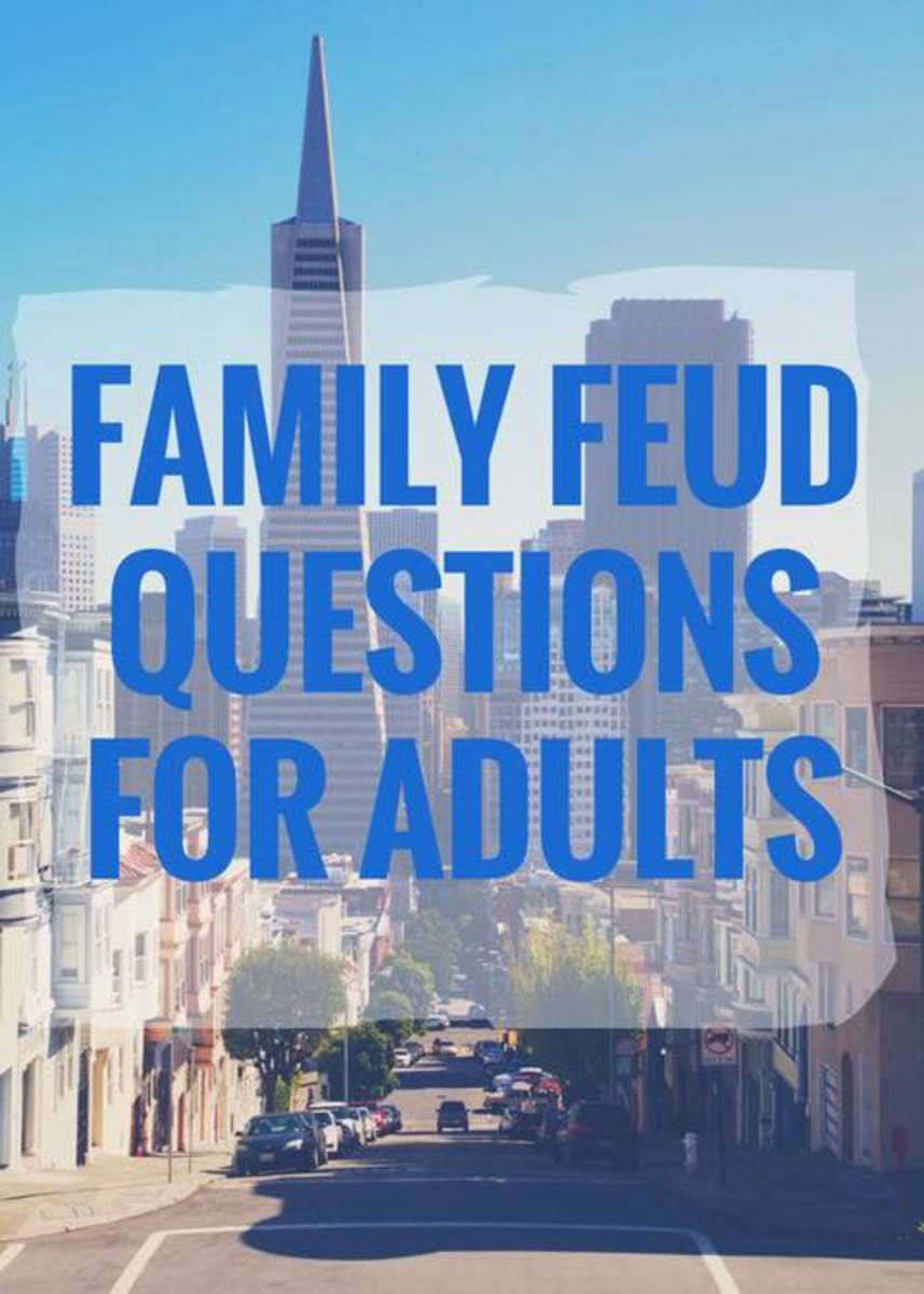 Family Feud Questions for Adults