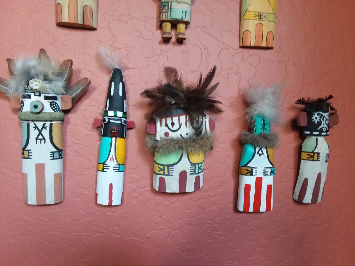 Here are some Hopi flat cradle dolls, generally intended for infants.