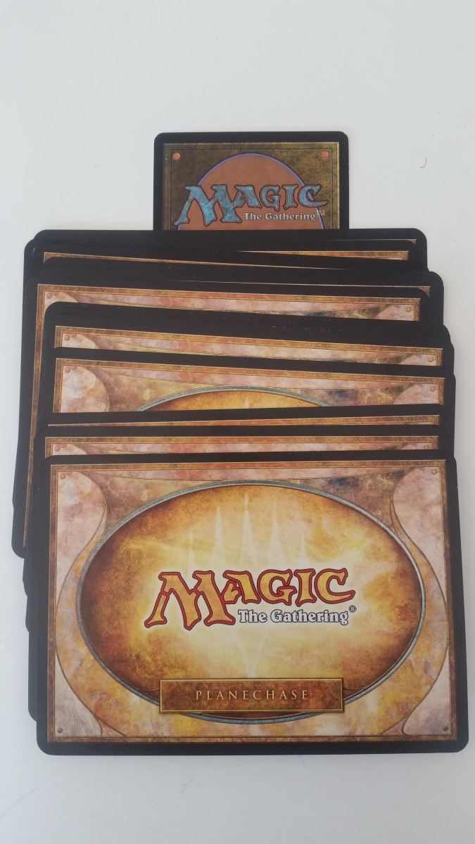 Planechase cards are bigger than regular cards.