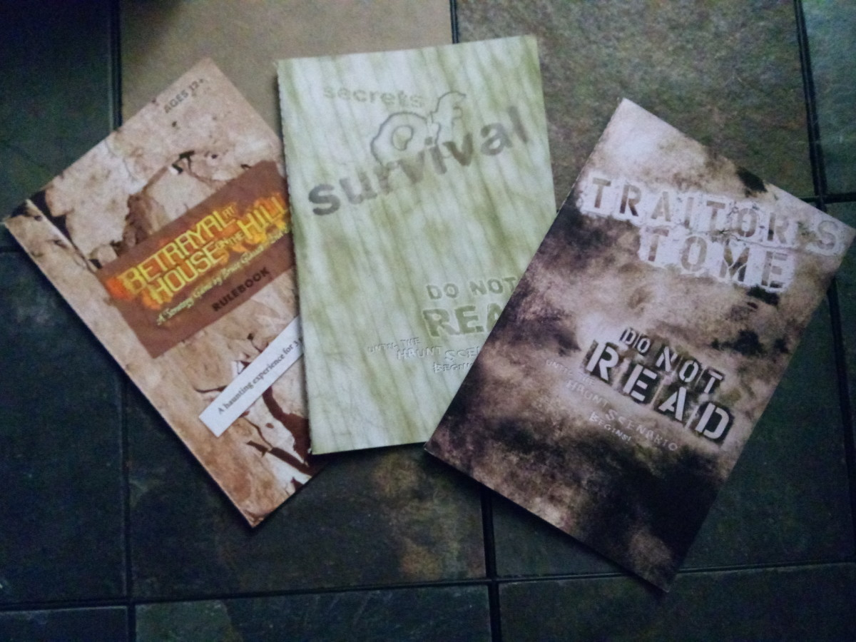 The 3 manuals that come with the game!