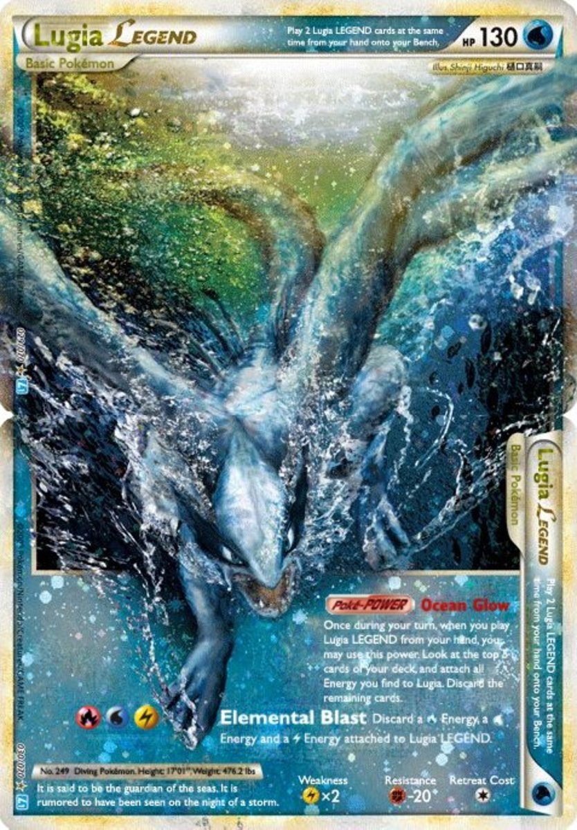 Top 10 Lugia Cards in the Pokemon Trading Card Game