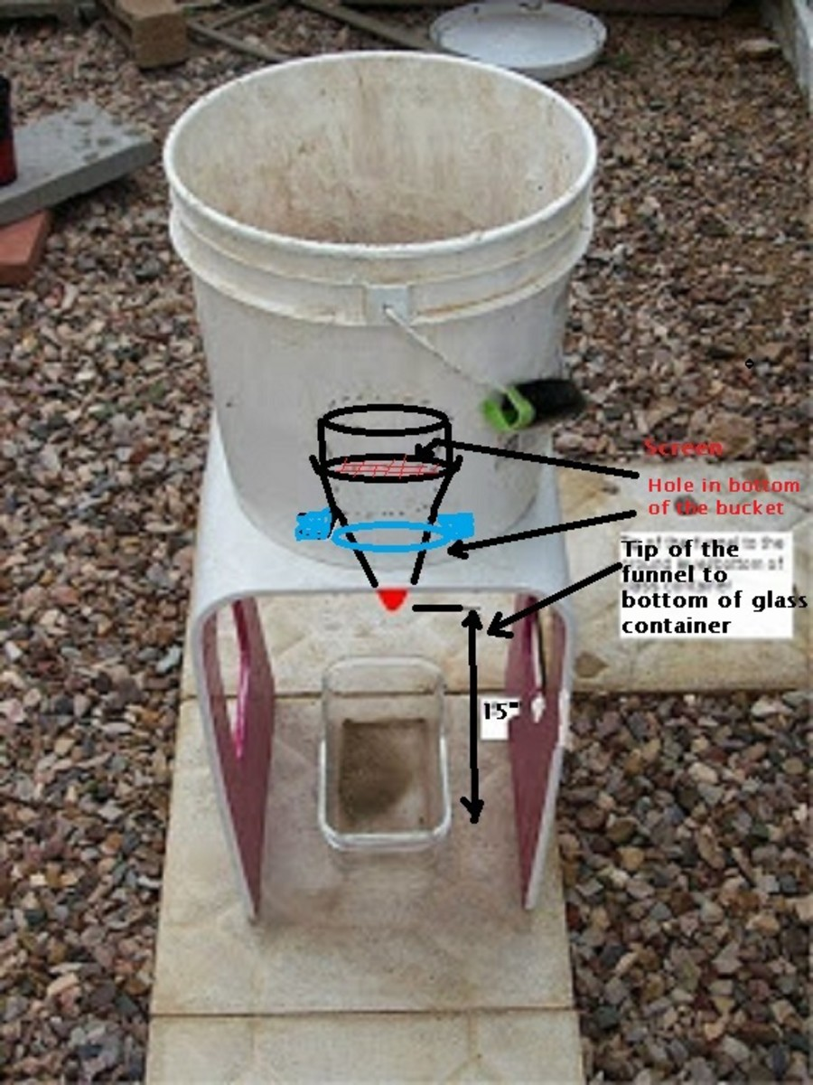 My version of a bucket classifier made from scraps.