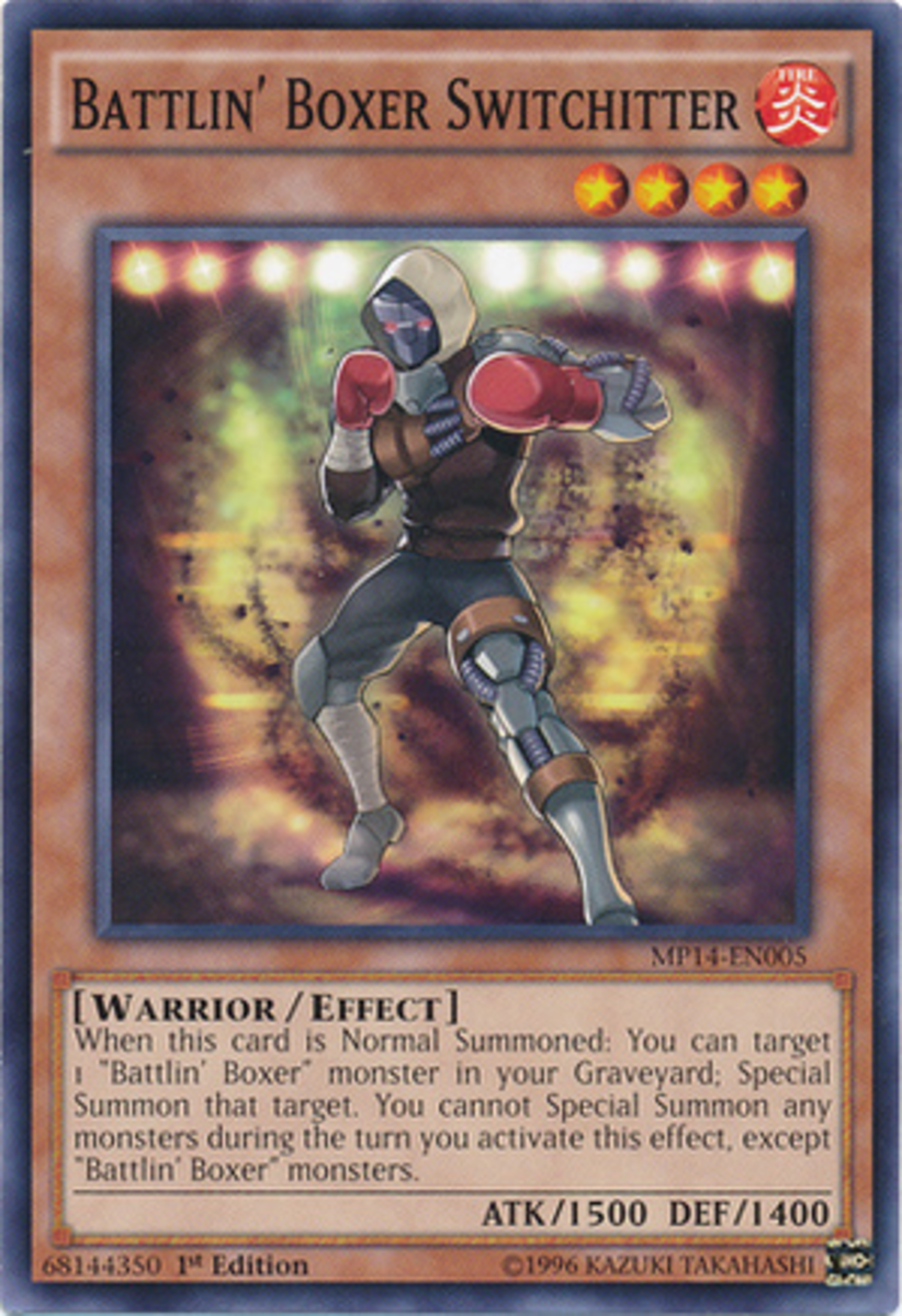 Whenever I see these cards, I hear Mina from DOA's smooth, funky workout theme play in my head.  Who else wants more support for this archetype?