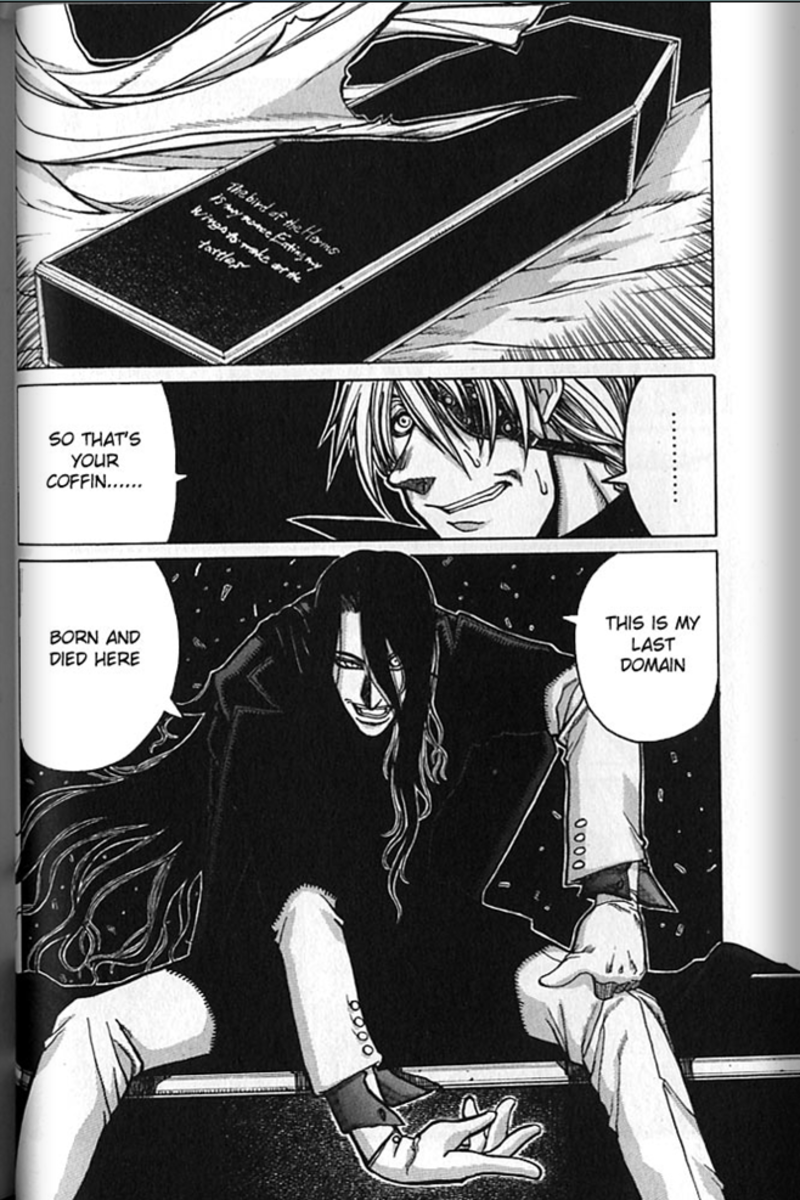 Alucard talking about himself.