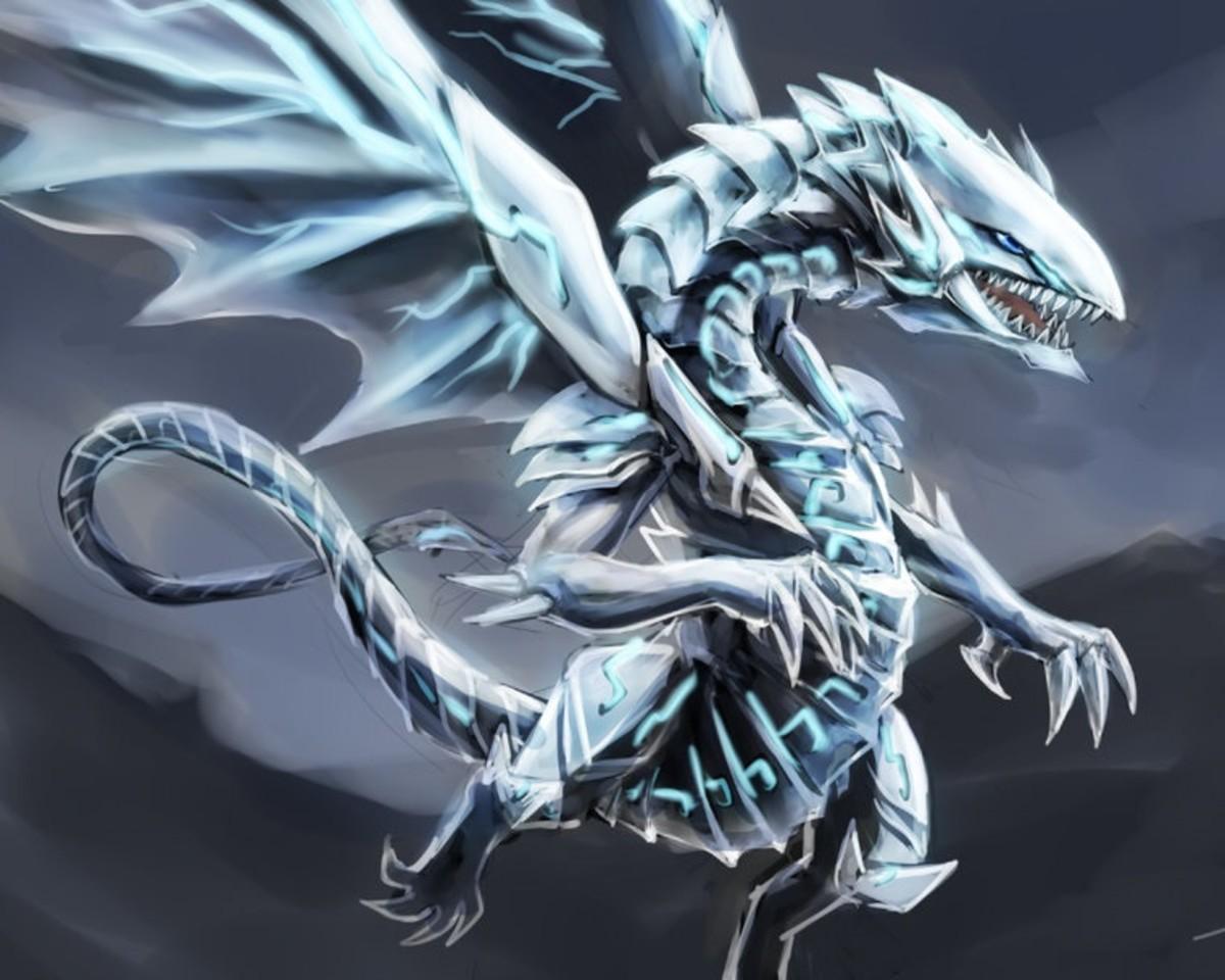 Blue-Eyes White Dragon wallpaper