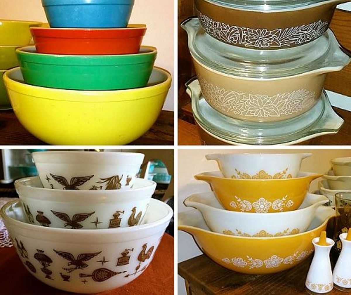 Vintage Pyrex bowls are a popular item to collect. They come in many delightful patterns and colors, plus they come in handy in the kitchen.