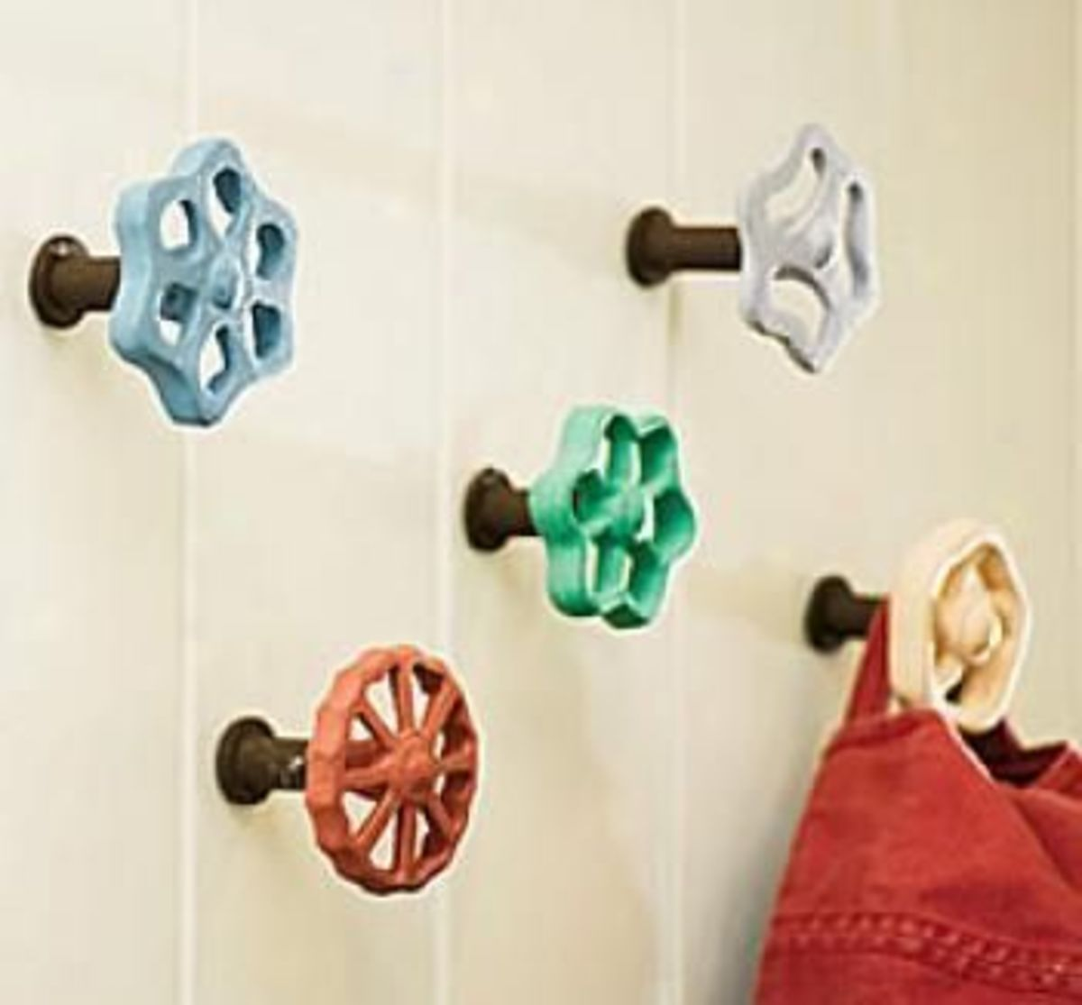 Outdoor faucet knobs are fun to collect and repurpose.