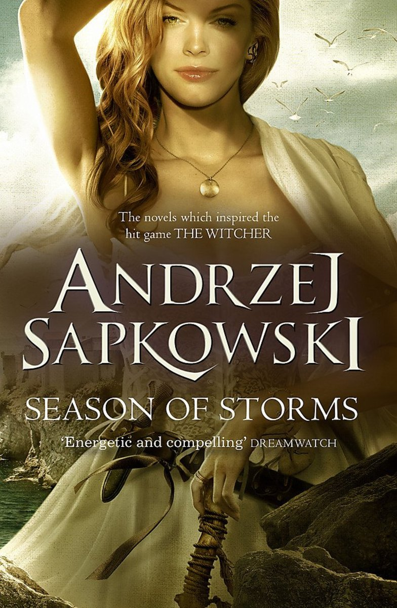 """U.K. cover art for """"Season of Storms,"""" depicting Coral."""