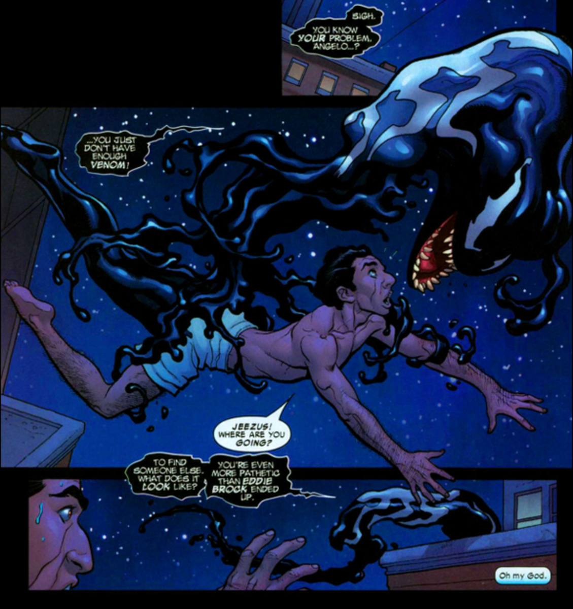 The Symbiote leaves Angelo