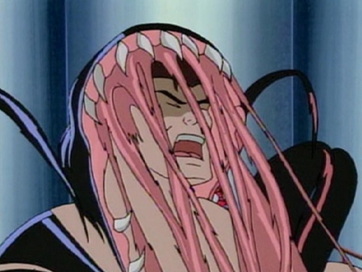 The Symbiote forced off Eddie Brock in Spider-Man TAS