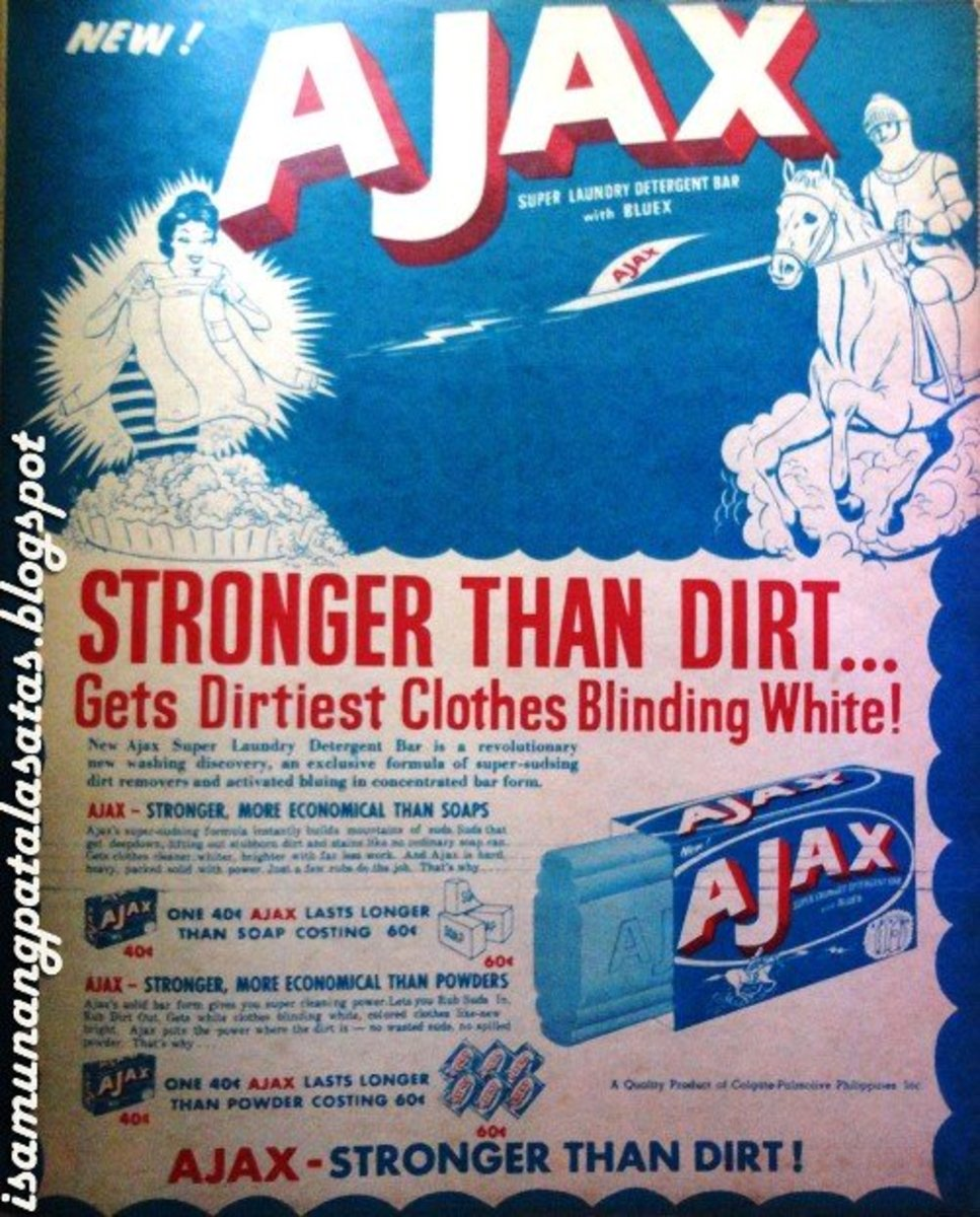 In 1960, the Ajax brand of household cleaning products and detergents enjoyed great success.