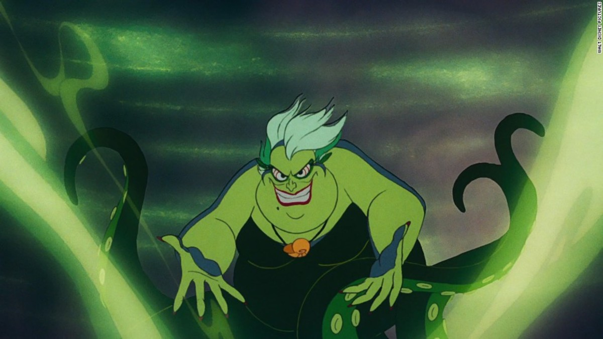 Ursula was the ultimate baddie in the little mermaid.