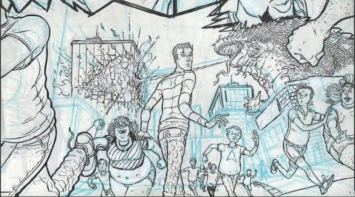 The back section includes sketches and pencils of the pages.