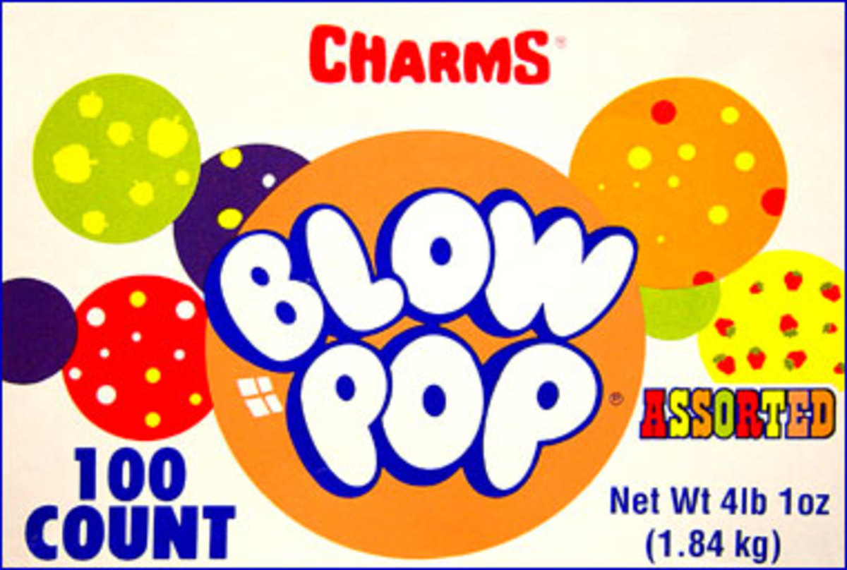 Charms Blow Pop, a candy and bubble gum in one, was branded in 1973.