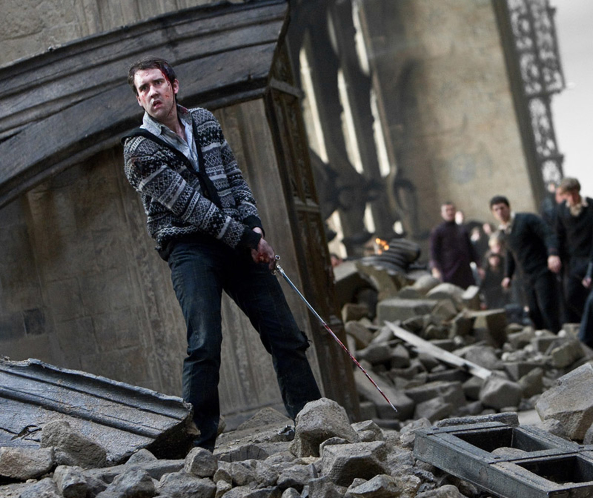 Neville with the Sword of Gryffindor