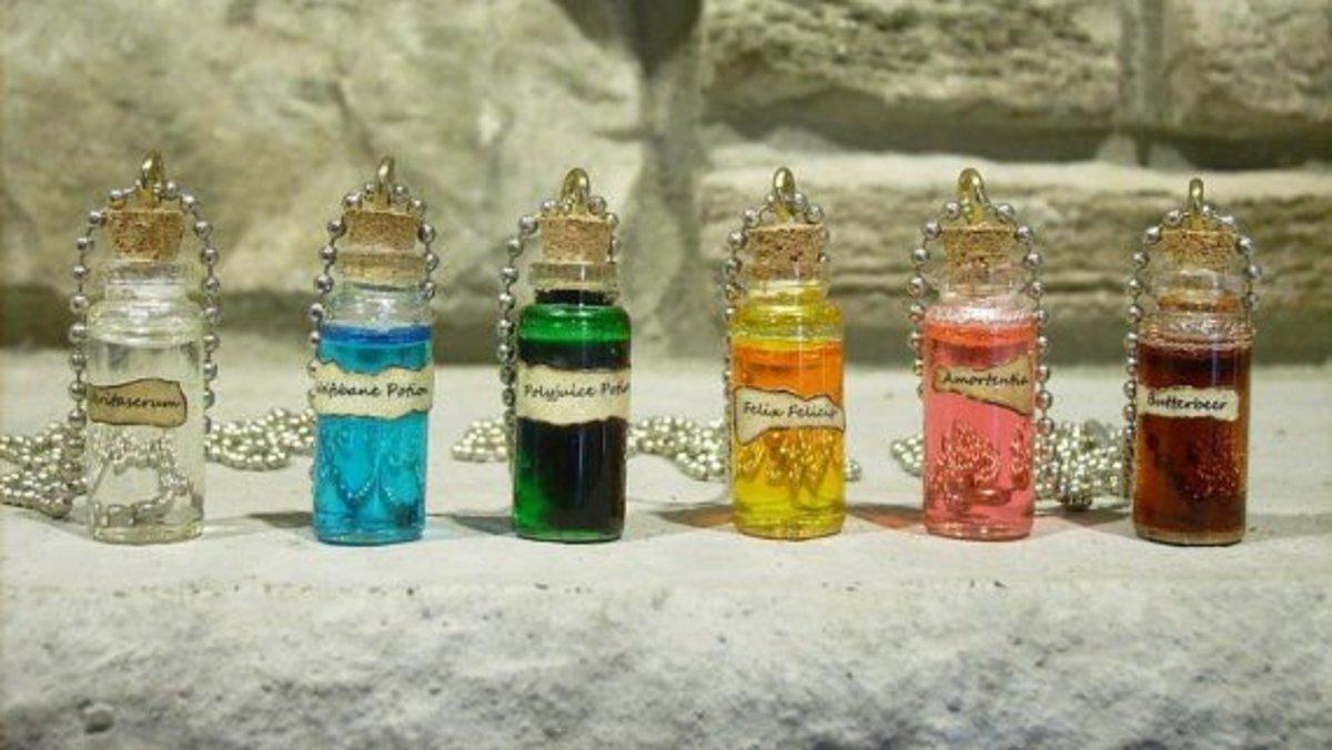 Harry Potter potion necklaces