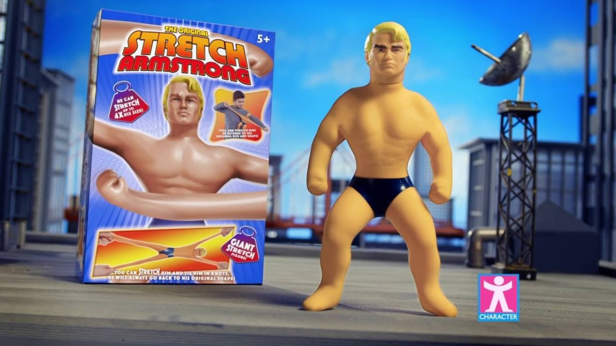 "In 1976, the ""Stretch Armstrong"" doll was introduced."