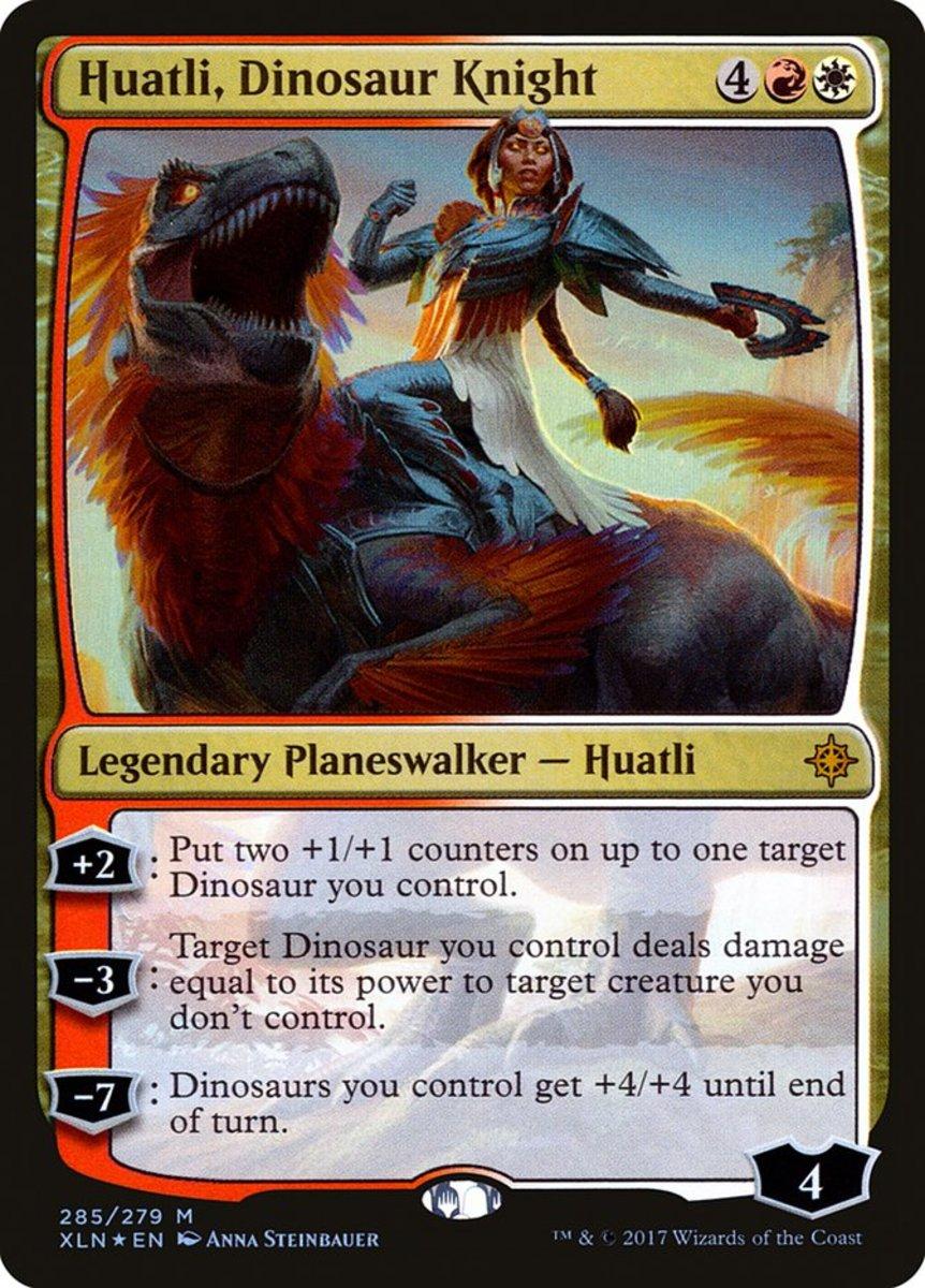Huatli, Dinosaur Knight mtg