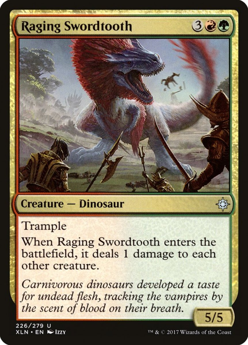 Raging Swordtooth mtg